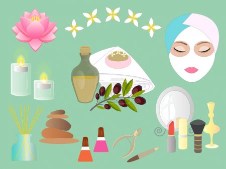 Set Accessories for Spa Salon and Beauty parlor