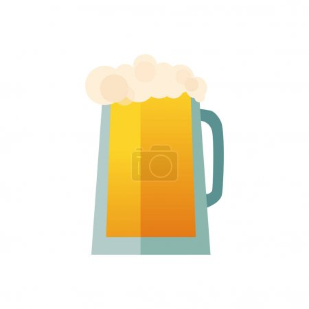 Beer glass cups icons set. Beer bottle isolated logo. Beer label, beer mug. Oktoberfest beer pub collection. Beer vector illustration