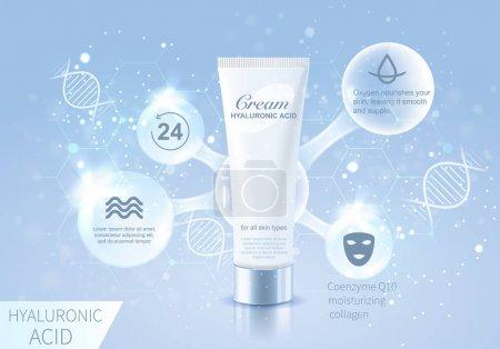 hyaluronic cosmetic bottle