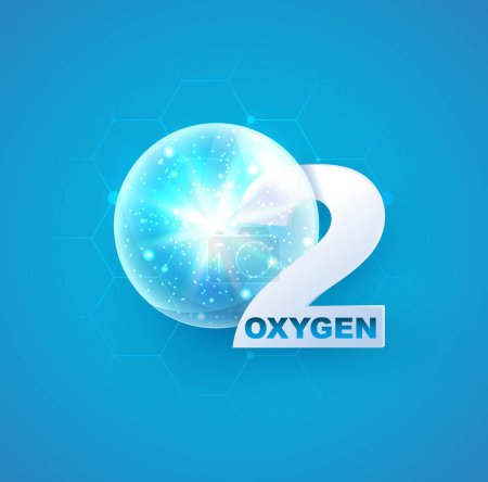 oxygen icon for decoration cosmetics
