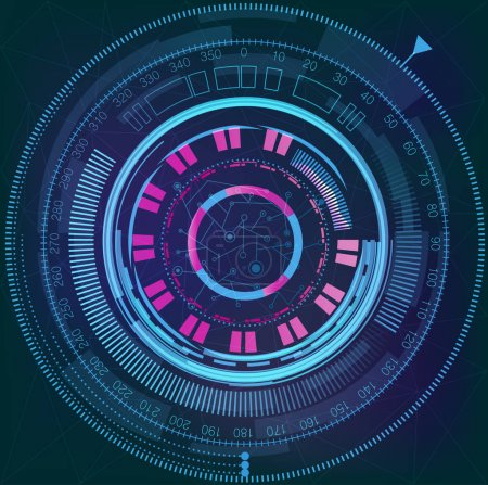 Illustration for Vector illustration of space Futuristic interface - Royalty Free Image