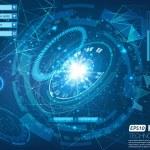 Vector illustration of futuristic technological ci...
