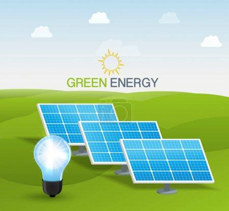 Illustration pour Illustration vectorielle de panneaux d'énergie solaire - image libre de droit