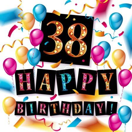 38 years anniversary, happy birthday