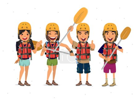 Rafting Tourist - vector