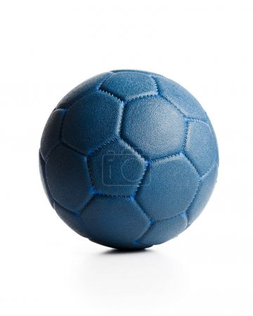 Blue leather ball