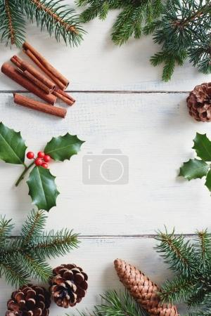floral Christmas decorations