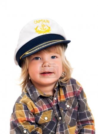 little boy in sailor's cap