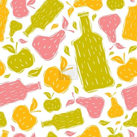 Hard cider seamless pattern