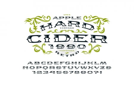 Decorative  serif extended font in retro style