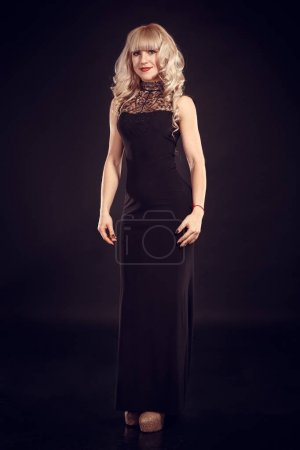 blonde-haired woman in sexy dress