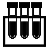 Isolated test tubes icon