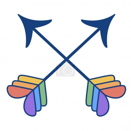 Illustration for Vector Cartoon LGBT Arrows Icon Isolated Illustration - Royalty Free Image