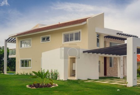 Photo for Beautiful modern villa in summertime - Royalty Free Image