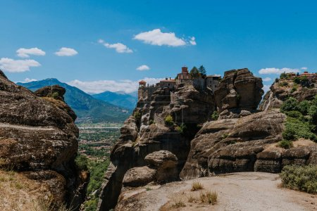 Photo for Great Monastery of Varlaam on the high rock in Meteora, Thessaly, Greece - Royalty Free Image