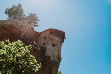 Photo pour Grand monastère de Varlaam sur le rocher élevé à Meteora, Thessalie, Grèce - image libre de droit