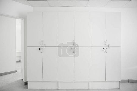 Photo for White room interior with a large white closets - Royalty Free Image