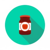 Flat tomato paste icon in vector format