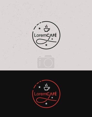 Illustration pour Icône pour le café et l'industrie du café / Identité visuelle Caf - image libre de droit