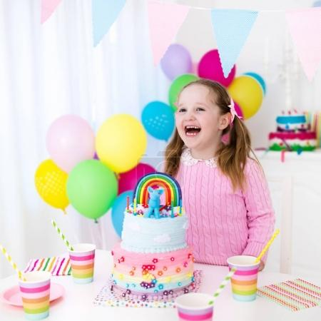 Kids birthday party with cake