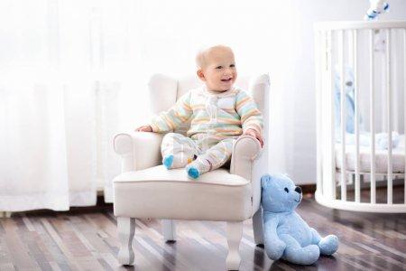 Baby boy in bedroom Infant