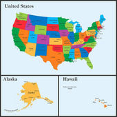The detailed map of the USA including Alaska and Hawaii The United States of America with the capitals and the biggest cities