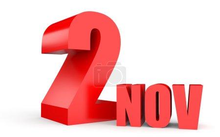 November 2. Text on white background.