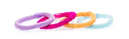 Photo pour Tissu coloré bande capillaire isolée sur fond blanc - image libre de droit