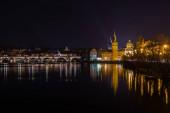 Prague at night image