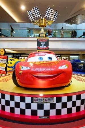 Disney Pixar feature film Cars 3 Racing Mania. Displays the event at the emporium Hong Kong.