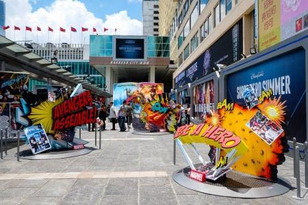 """""""Super Hero Summer"""" Exhibition activity in Harbour city"""