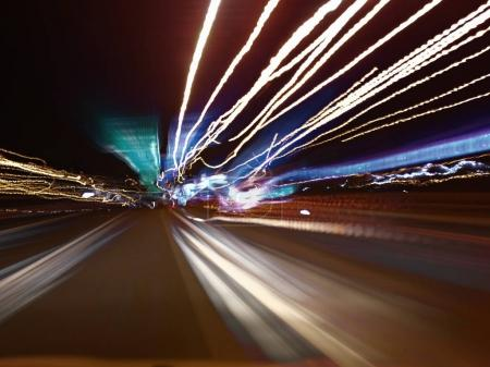 Photo for Abstract night traffic in the city - Royalty Free Image