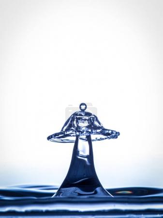 Water droplet collision on background