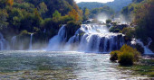 Beautiful Waterfalls Krka, National Park, Dalmatia, Croati
