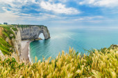 Dramatic french coast in autumn