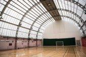 Light and wide indoor tennis court