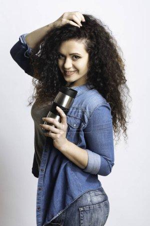 Young girl posing on camera