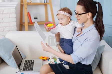 mother combining both motherhood and career
