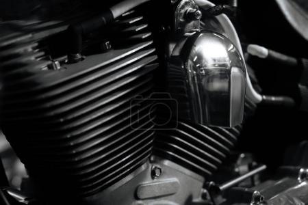 Classic powerful bike on maintenance