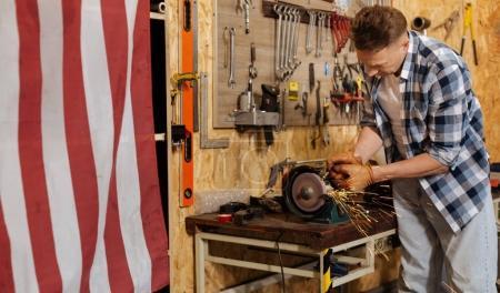 Precise hardworking expert creating custom details
