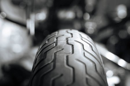 Picture of a tires tricky pattern