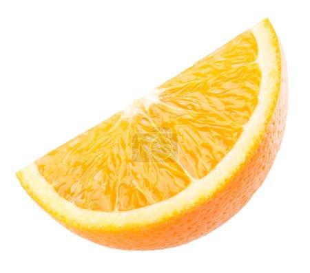 Photo pour Tranche d'orange isolé sur fond blanc - image libre de droit