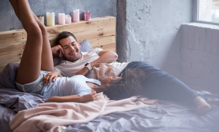 couple staying in bed together