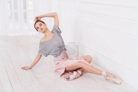 ballerina  posing at camera