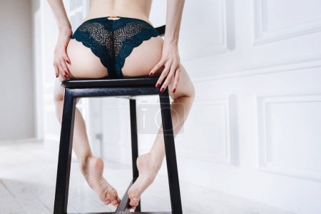 bouncy booty wearing lace panties