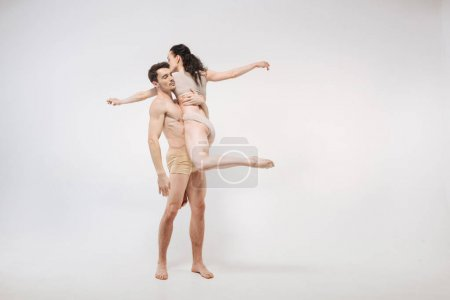 Professional ballet dancers performing