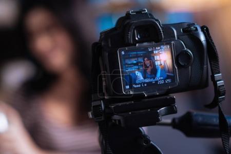 Close up of a camera screen