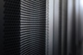 Interior server cabinets in the data center
