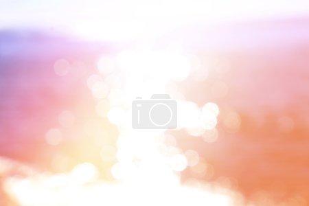 Photo pour Mer fond bokeh coloré - image libre de droit