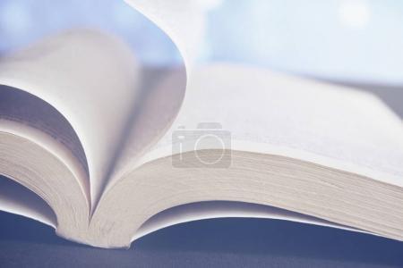 Opened book soft bright light